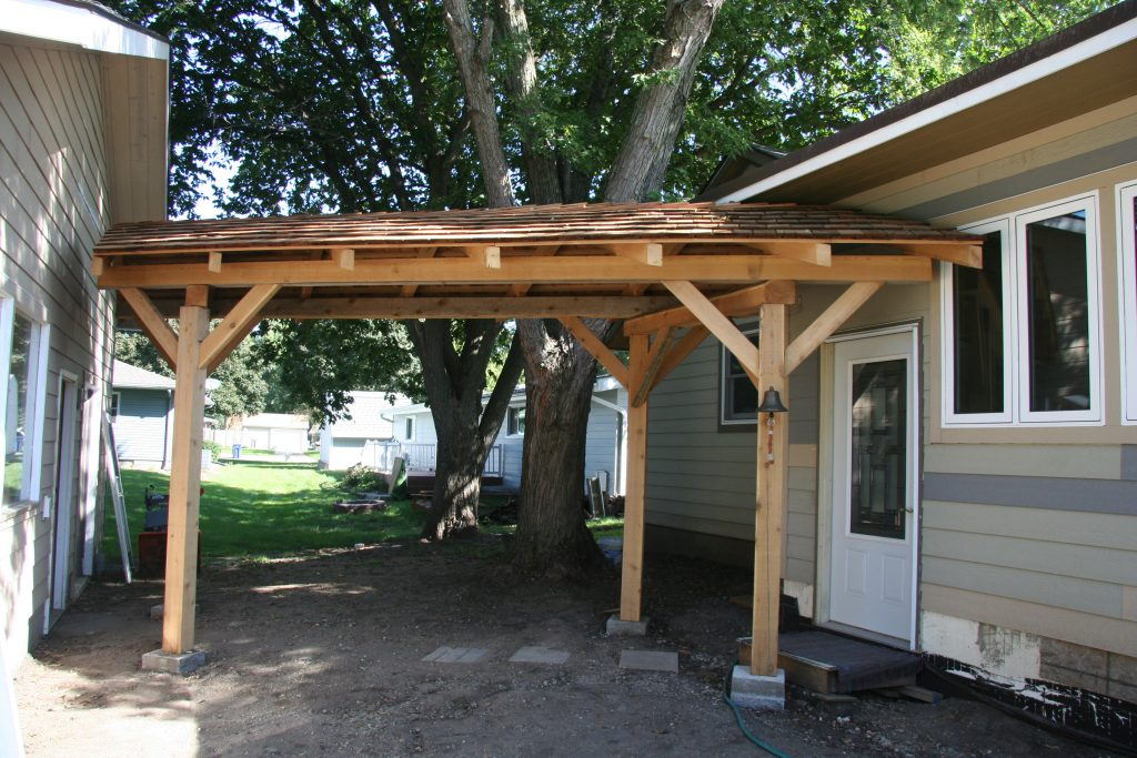 Cedar - Timber Frame Walkway